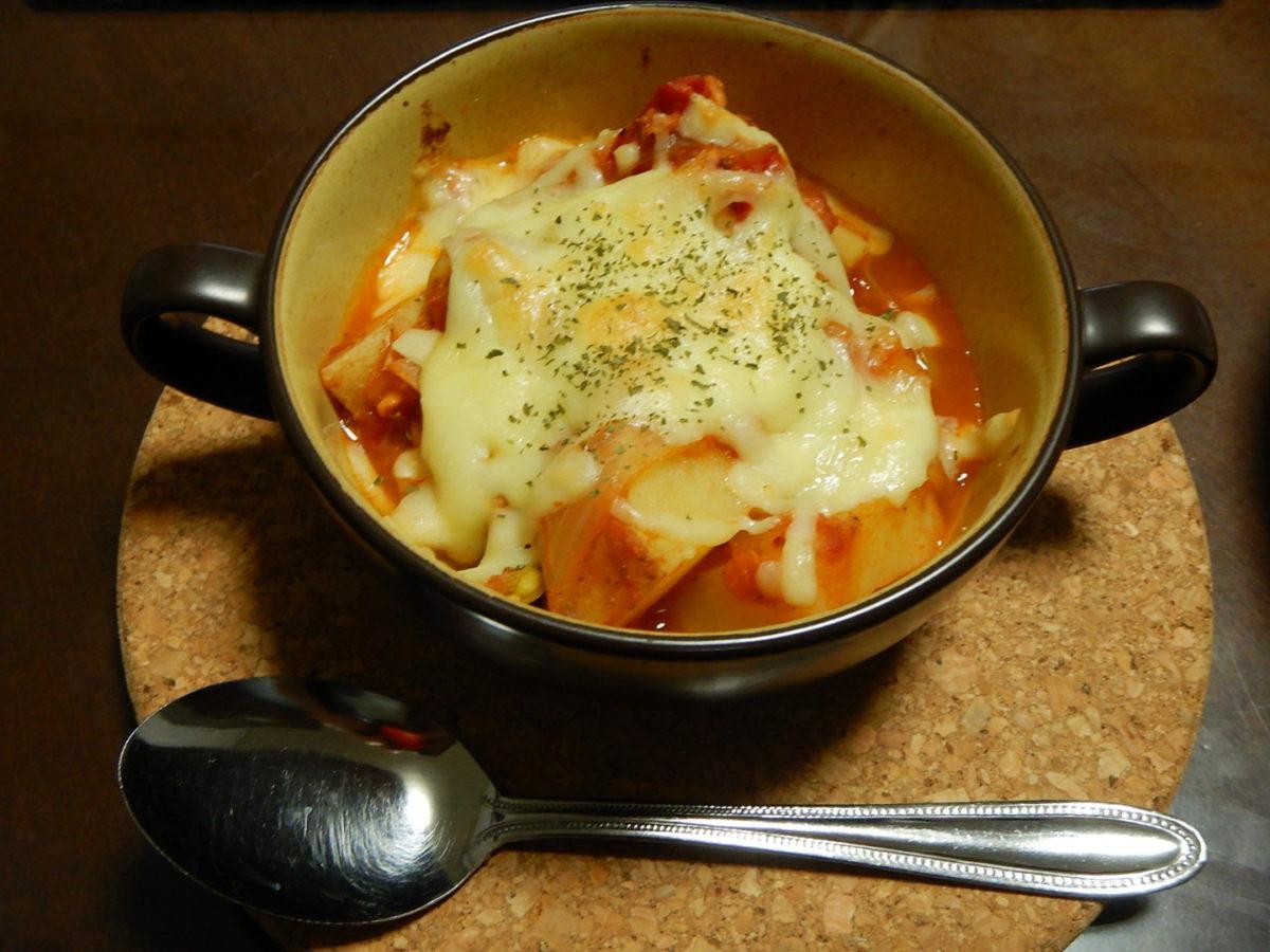 じゃがいもとツナ缶で作る簡単トマト煮のレシピ!イタリアン風にしました