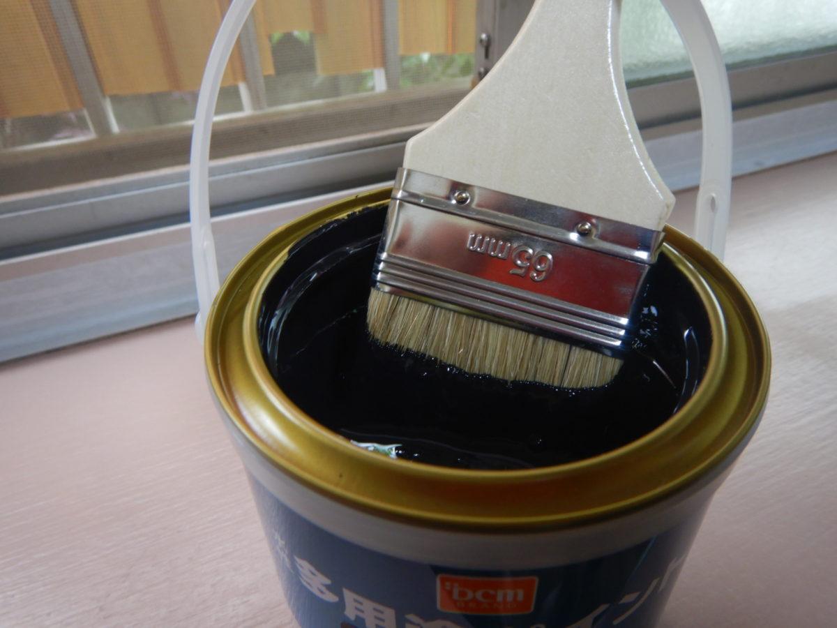 テレビ台を塗り替えDIY!水性ペイントで簡単に綺麗になりました!